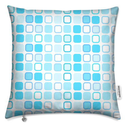 Retro Art Design Blue Cushion
