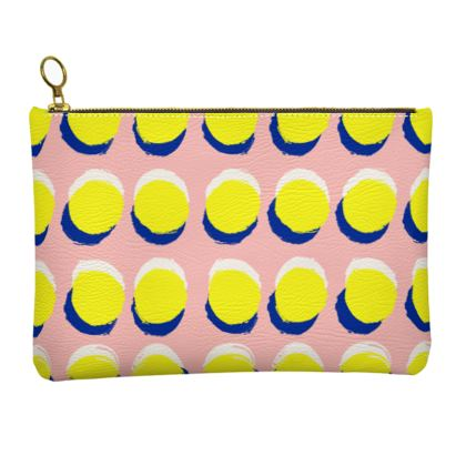 Hello There First Impressions Faux Leather Clutch Bag in Yellow Spot