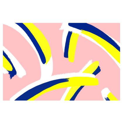 Hello There First Impressions Faux Leather Clutch Bag in Bold Strokes (Pink)