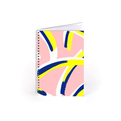 Hello There First Impressions Spiral Notebook in Bold Strokes (Pink)
