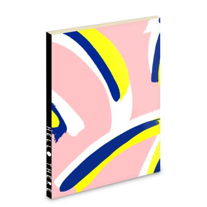 Hello There First Impressions Pocket Notebook in Bold Strokes (Pink)