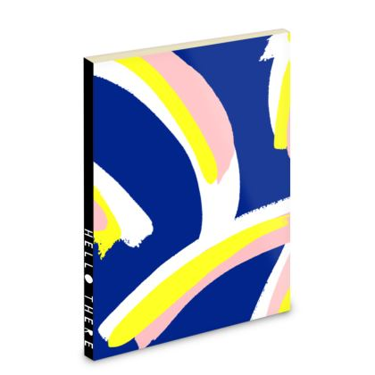 Hello There First Impressions Pocket Notebook in Bold Strokes (Blue)