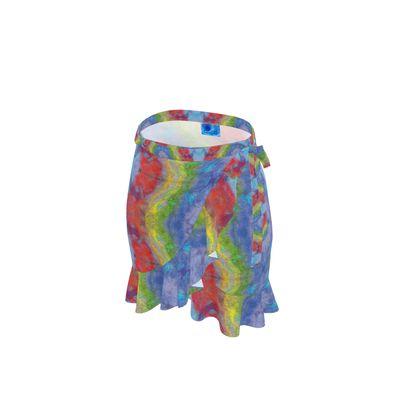 Rainbow Stripe Flounce Skirt