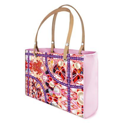 Kleine Handtasche, Shopper BAG Pearls & Corals, LACK pink