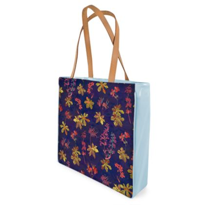 Blue Geraniums Shopper Bag