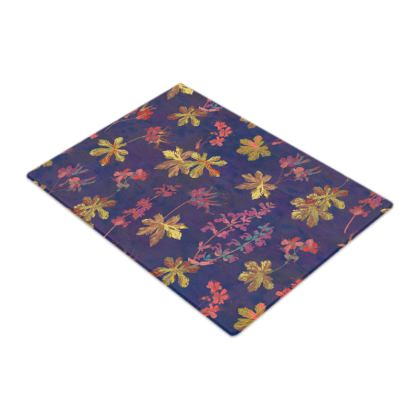 Blue Geraniums Glass Chopping Board