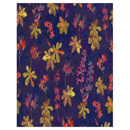 Blue Geraniums Tray