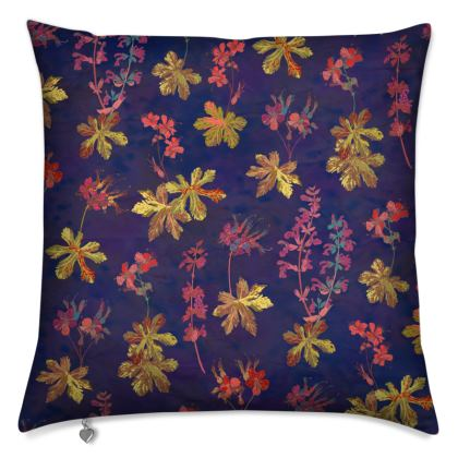 Blue Geraniums Cushion