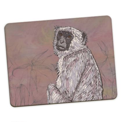 Gray Langur Monkey Placemats