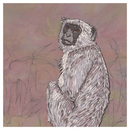 Gray Langur Monkey Coasters
