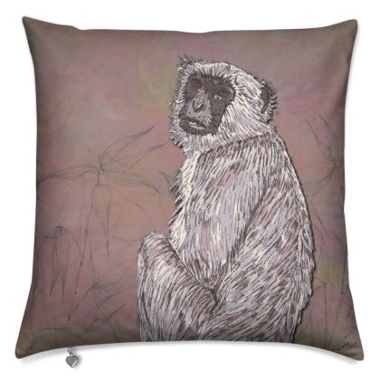 Gray Langur Monkey Cushion