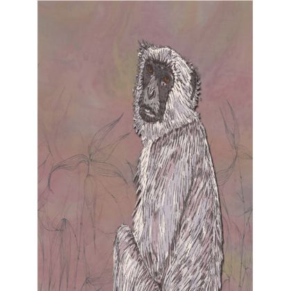 Gray Langur Monkey Tray
