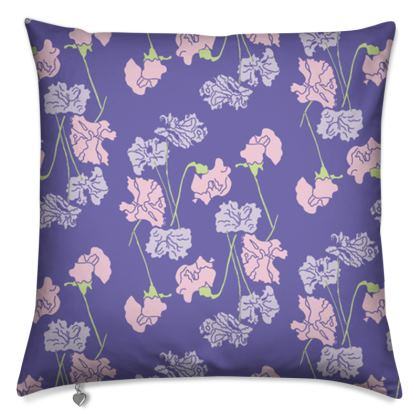 Feather Cushion floral