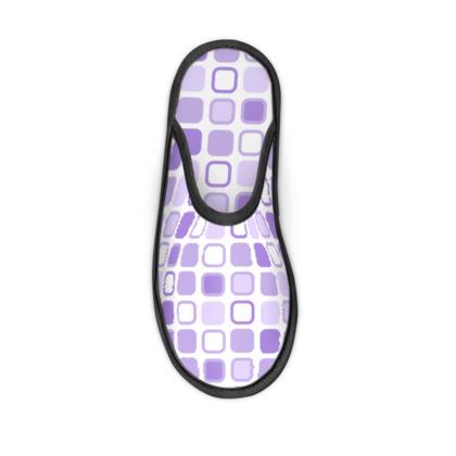 Retro Art Design Purple Slippers