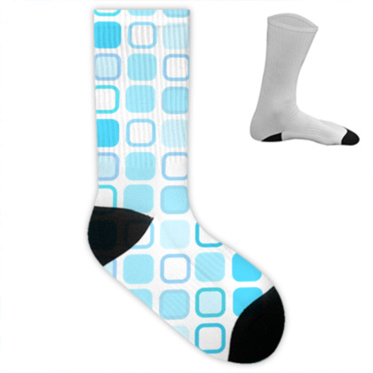 Retro Art Design Blue Socks