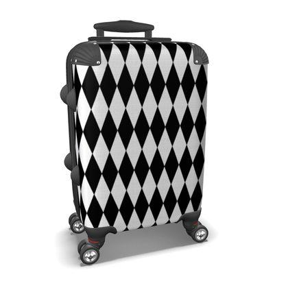 Suitcase Diamond Design Black And White