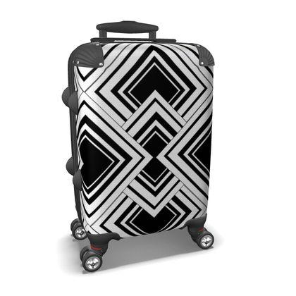 Suitcase Black And White Design