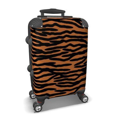 Suitcase Tiger Skin Pattern