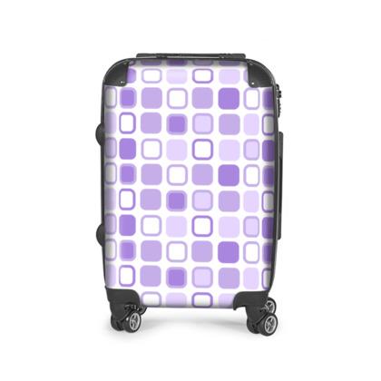 Retro Art Design Purple Suitcase