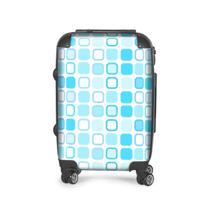 Retro Art Design Blue Suitcase