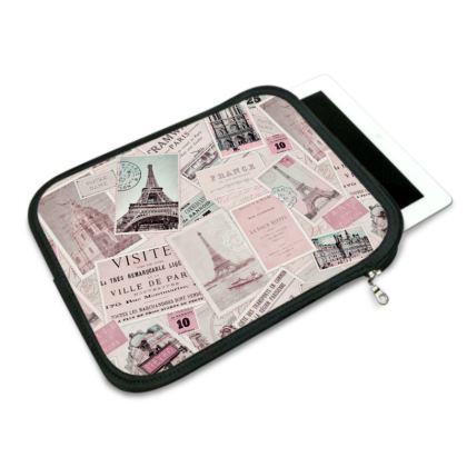 Vintage Paris Postcard Nostalgia iPad Slip Case