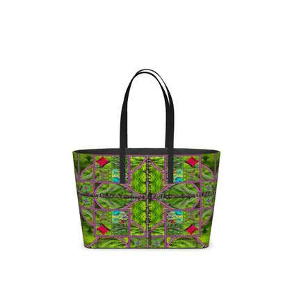 459,- small Tote Bag GREEN LIZARD aus Leder, DESIGNER Nappaleder tote Bag im Birkinbag Style RETRO