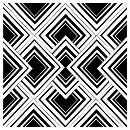 Flip Flops Art Deco Design Black And White