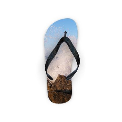 Ocean Photography Flip Flops