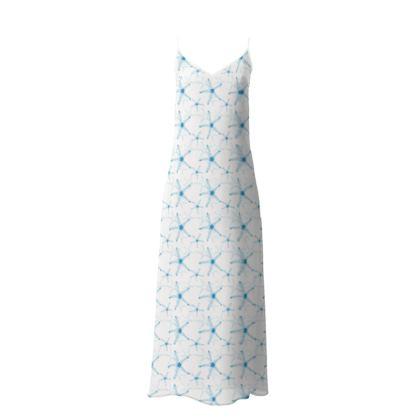 Sea Stars in Aqua Blue Collection Slip Dress