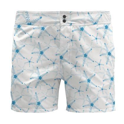 Sea Stars in Aqua Blue Collection Board Shorts
