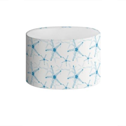 Sea Stars in Aqua Blue Collection Drum Lamp Shade