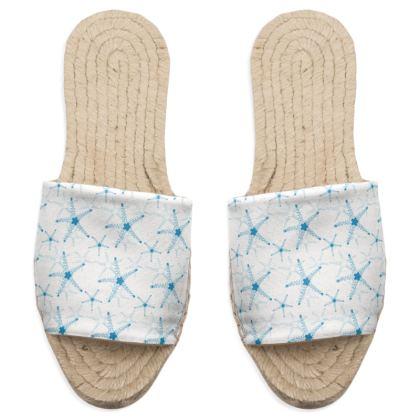 Sea Stars in Aqua Blue Collection Sandal Espadrilles