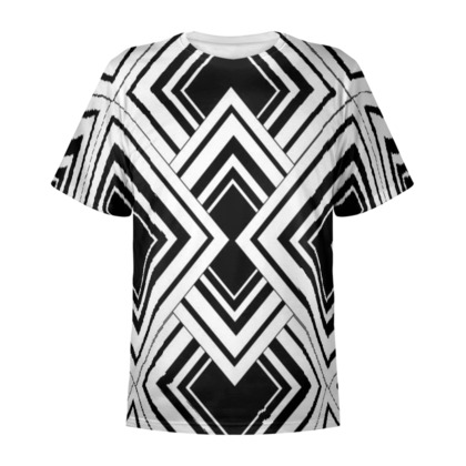 Art Deco Design Black And White All Over Print T Shirt