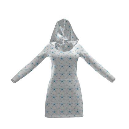 Sea Stars in Aqua Blue Collection Hoody Dress