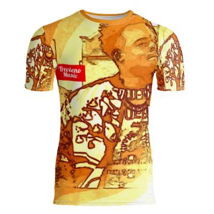 Trevieno Music Orangelo Slim Fit Mens T-Shirt