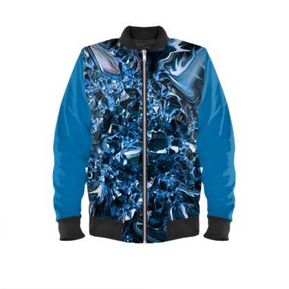 Men's Bomber Jacket Blue Crystal