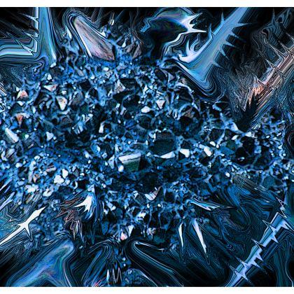 Bucket Hat Blue Crystal Wide Brim