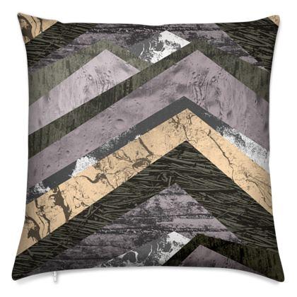 Stone rock pattern cushion