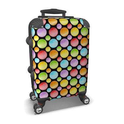 Rainbow Polka Dot Suitcase