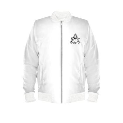 Alesi Flash War Time Bomber Jacket- White/Black/White