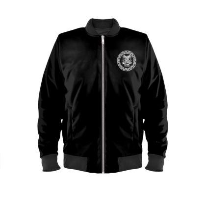 Alesi Custom Bomber Jacket- Black/White/Black
