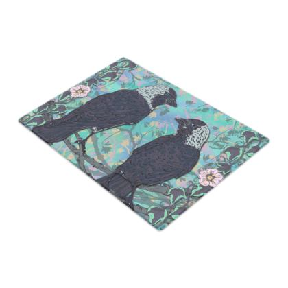 Jackdaws Glass Chopping Board