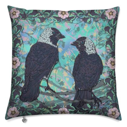 Jackdaws Cushion
