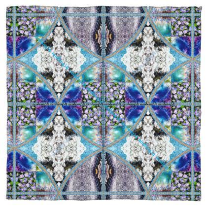 115 x 115 cm pure SILK  BLUE Symphonie #ninibing34