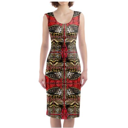 229,- Bodycon-Kleid size XL Red Animal #ninibing34