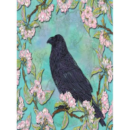 Raven and Apple Blossom Tray