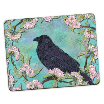 Raven and Apple Blossom Placemats