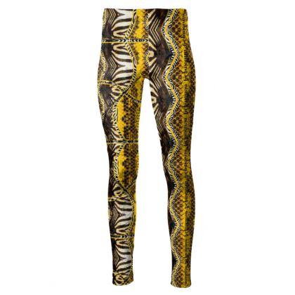 192,- Taillenhohe Leggings #ninibing34 YELLOW SCHLANGE size M
