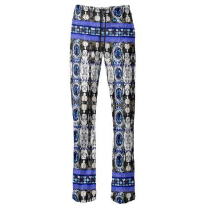 229,- Damenhose JUMP-IN PANT Saphire BLUE size M crushed Velours #ninibing34jimpin