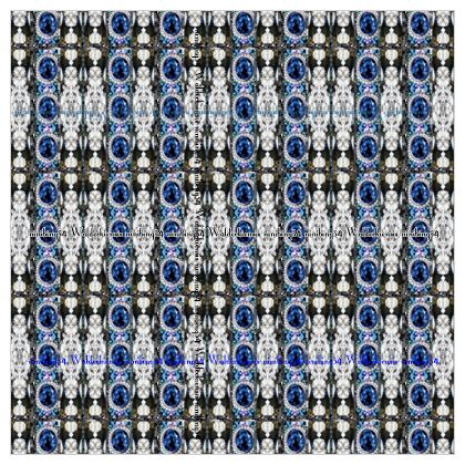 Maxi Scarf 132 x 132 cm Musselinen im BLUE SAPHIRE #ninibing34 Print